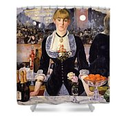 The Bar At The Folies-bergere Shower Curtain