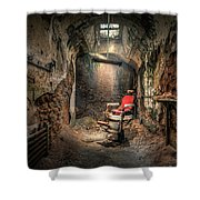 The Barber's Chair -the Demon Barber Shower Curtain
