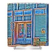 The Barbershop Hdr Shower Curtain