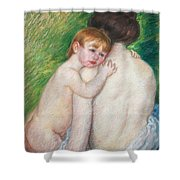 The Bare Back Shower Curtain by Mary Cassatt Stevenson