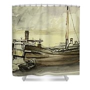 The Barge Shower Curtain