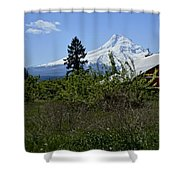 The Barn And  Mt. Hood Shower Curtain