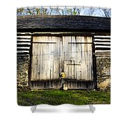 The Barn And The Banjo Mandolin Shower Curtain