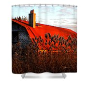 The Barn  At Sunset Shower Curtain
