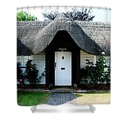 The Barn House Door Nether Wallop Shower Curtain