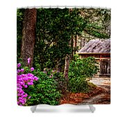 The Barn In Spring Shower Curtain