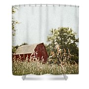 The Barn In The Distance Shower Curtain