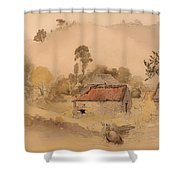 The Barns Shower Curtain