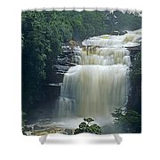 The Base Of Angel Falls In Canaima National Park Venezuela Shower Curtain