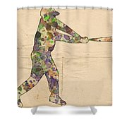 The Baseball Player Shower Curtain