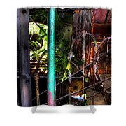 The Basement Stairs Shower Curtain