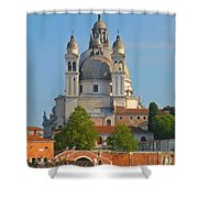 The Basilica Di Santa Maria Della Salute Shower Curtain