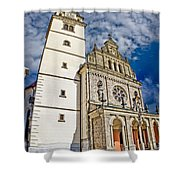 The Basilica In Mary Of Bistrica Shower Curtain