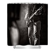 The Bassist Shower Curtain