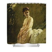 The Bather Shower Curtain