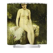 The Bather Shower Curtain by Leon Bazile Perrault