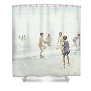 The Bathers Shower Curtain by Edward van Goethem