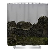 The Battered Remains Of The Urquhart Castle In Scotland Shower Curtain