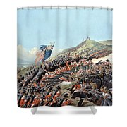 The Battle Of Alma On 20th September Shower Curtain by Edmund Walker