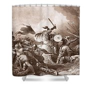 The Battle Of Hastings, Engraved Shower Curtain