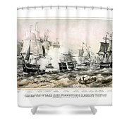 The Battle Of Lake Erie - 1878 Shower Curtain