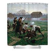 The Battle Of Lexington, 19th April 1775 Shower Curtain