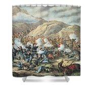 The Battle Of Little Big Horn, June 25th 1876 Shower Curtain