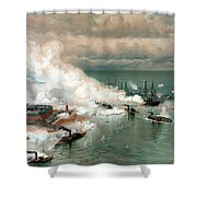 The Battle Of Mobile Bay Shower Curtain