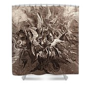 The Battle Of The Angels Shower Curtain