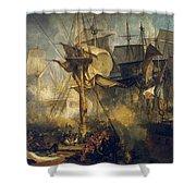 The Battle Of Trafalgar Shower Curtain