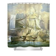 The Battle Of Trafalgar Shower Curtain