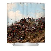 The Battle Of Trevino Shower Curtain