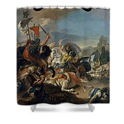 The Battle Of Vercellae Shower Curtain