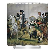 The Battle Of Wagram, 6th July 1809, 1836 Oil On Canvas Shower Curtain