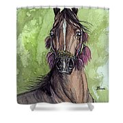 The Bay Arabian Horse 16 Shower Curtain