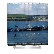 The Bay At Swanage Shower Curtain
