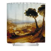 The Bay Of Baiae With Apollo And The Sibyl Shower Curtain