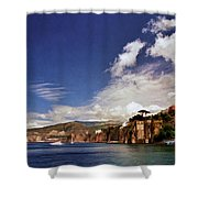 The Bay Of Sorrento Shower Curtain