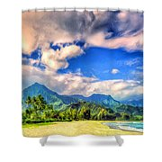 The Beach At Hanalei Bay Kauai Shower Curtain