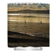 The Beach At Mounts Bay Shower Curtain