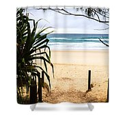 The Beach At Salt Shower Curtain