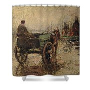 The Beach At St Ives Shower Curtain