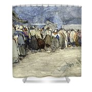 The Beach Berck Sur Mer Shower Curtain by Patty Townsend Johnson