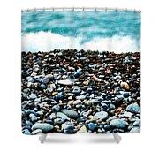 The Beach Of Rocks Shower Curtain
