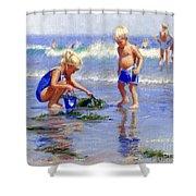 The Beach Pail Shower Curtain