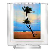 The Beach Poster Shower Curtain