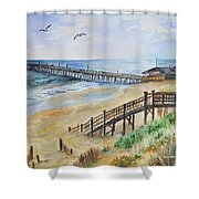 Nags Head Fishing Pier Shower Curtain
