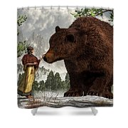 The Bear Woman Shower Curtain