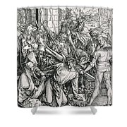 The Bearing Of The Cross From The 'great Passion' Series Shower Curtain by Albrecht Duerer