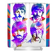 The Beatles Art Shower Curtain
